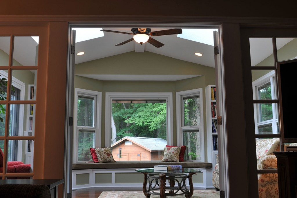 Traditional Home Addition Sun Room Design Bay Window